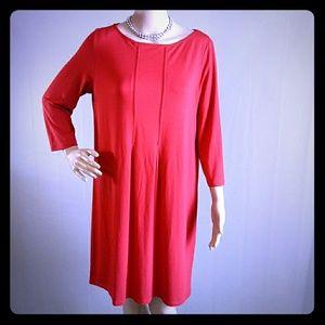 J.JILL RED DRESS SIZE MEDIUM PETITE